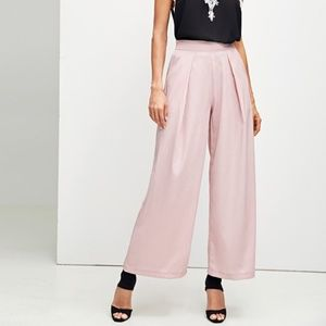 Boxed Pleated Palazzo Leg Pants